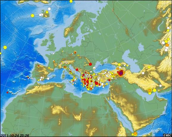 tägliche Erdbeben